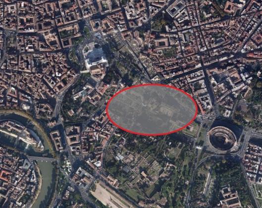 Ruinas en la ciudad de Roma