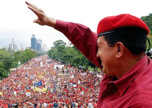 Cierre de la campaña de Hugo Chávez en Caracas, octubre de 2012.