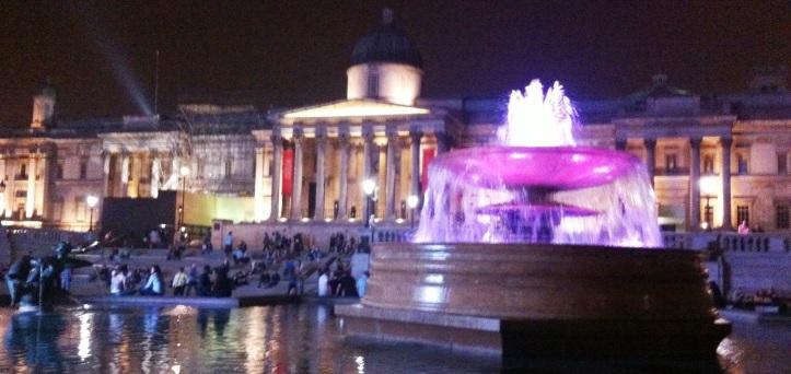 Mi primera foto, en Trafalgar Square