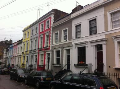 Calle de Notting Hill, cerca de Portobello Market