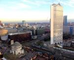 Vista de Birmingham desde la librería