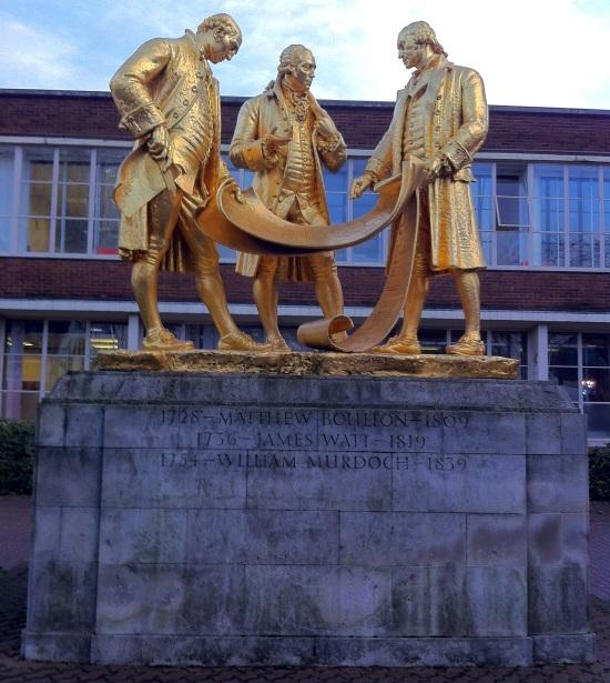 Escultura de James Watt, Mathew Boulton y William Murdoch