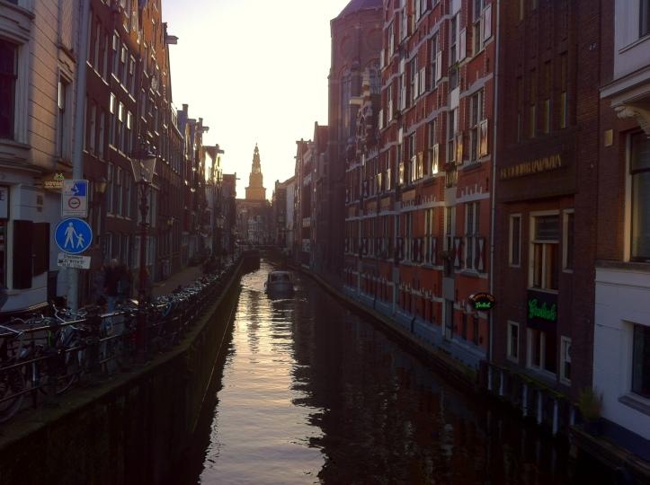 Sunset on Amsterdam