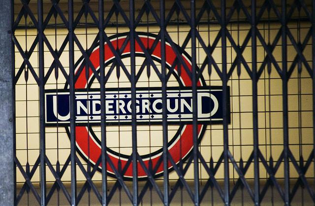 Manifestación en el Metro de Londres