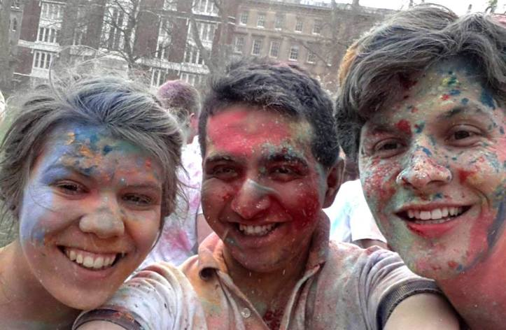 Celebrating Holi with one of my Indian friends