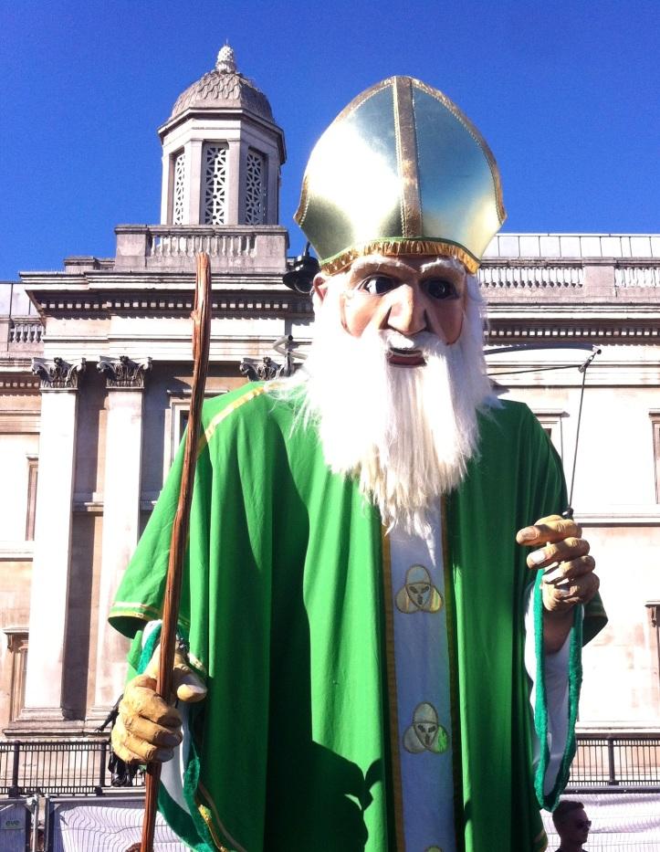 Figura de San Patricio en Trafalgar Square
