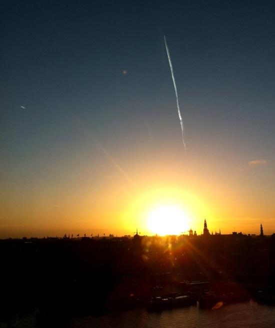 Atardecer en Ámsterdam