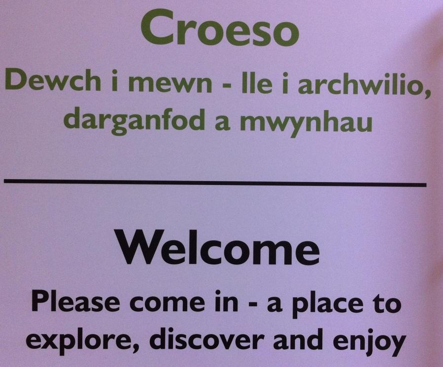 Idioma Galés, idioma oficial del país de Gales.