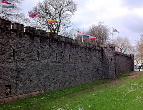 Walls from the Cardiff Castle