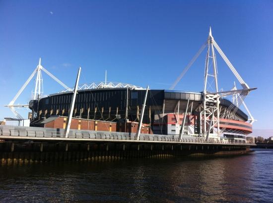 Millenium Stadium and Taff River, Cardiff