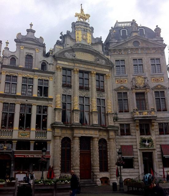 Plaza central de Bruselas.