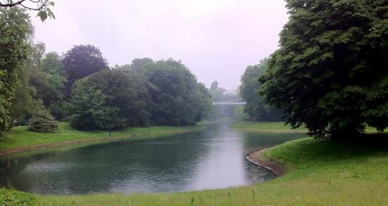 Puente sobre el Stadspark, Amberes