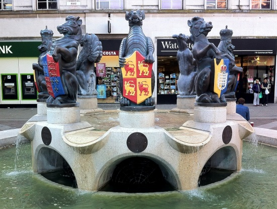 Guildhall round fountain