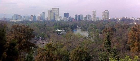 Vista sobre el lago de Chapultepec, DF México