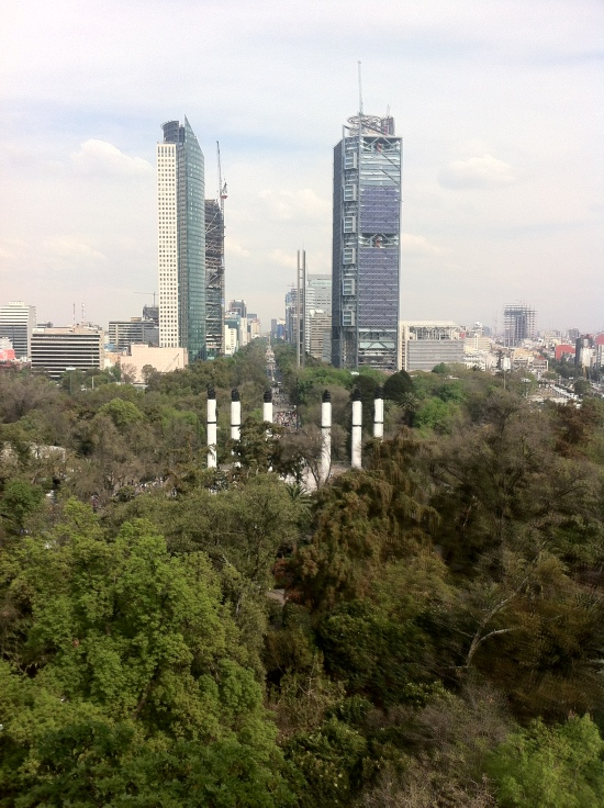 Vista sobre Reforma desde Chapultepec, DF México