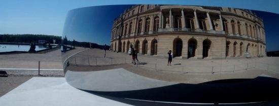 Espejo convexo en los jardines de Versalles