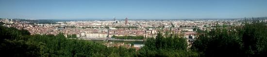 Vista de Lyon desde la Basílica de Notre Dame de Fourviere