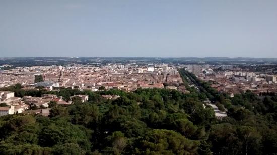 Vista desde la Torre Magna en Nimes